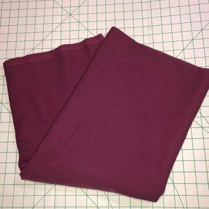 FABRIC 2yds 60w burgundy/fuchsia poly blend NWOT